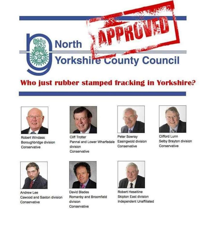 Who just rubber stamped fracking in Yorkshire?