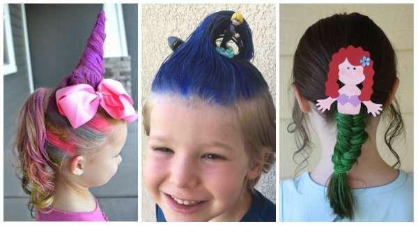 18 idées de coiffures rigolotes pour enfants