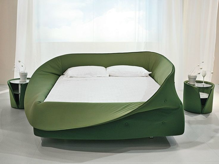 Upholstered double bed Colletto Collection by Lago | design Nuša Jelenec