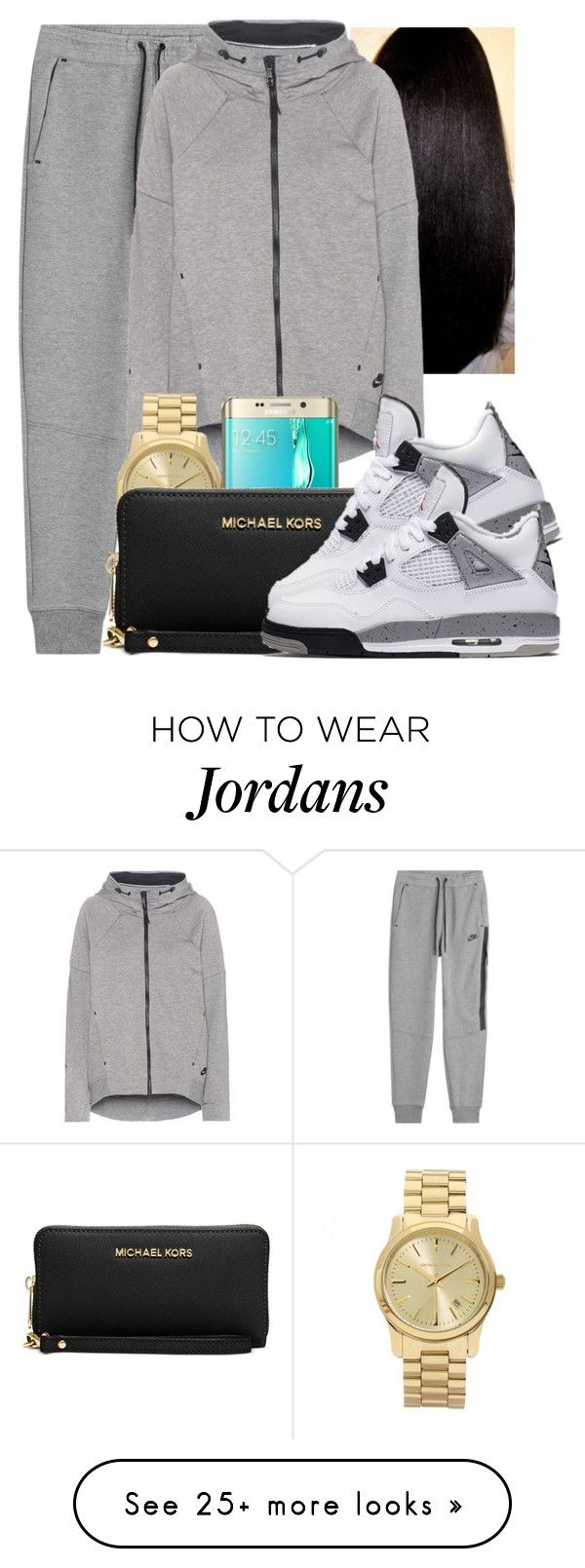 """So is it weird that I have this whole fit like......"" by lover-185 on Polyvore featuring NIKE, Michael Kors and Samsung"
