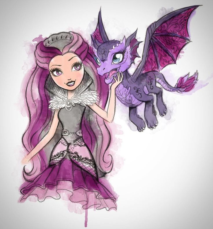 Bots & Babes Blog | Ever After High Raven Queen and her pet dragon...