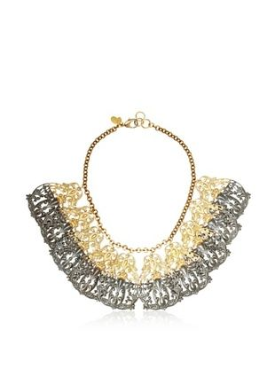 60% OFF We Dream in Colour Spanish Lace Necklace, Black/Gold