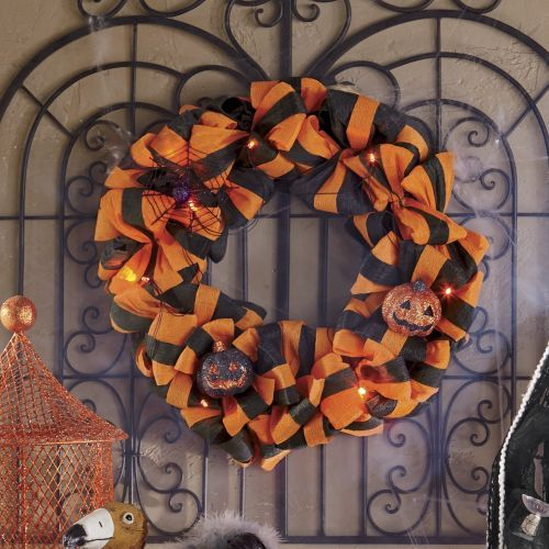 Lit Halloween Wreath from Through the Country Door® & 48 best Country Door Halloween images on Pinterest | Country ... Pezcame.Com