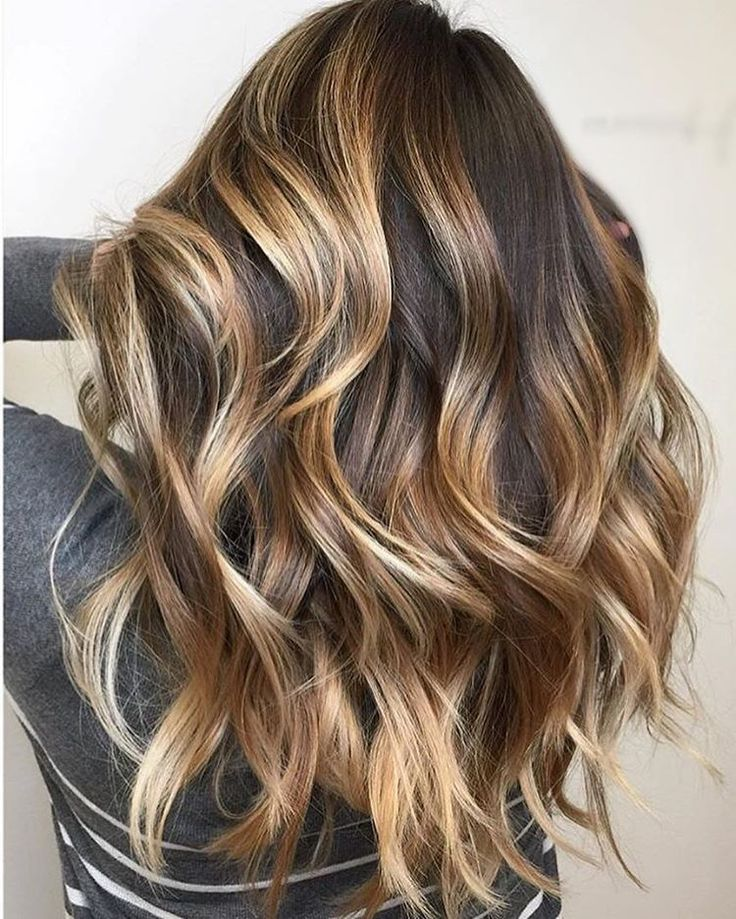 gorgeous color with caramel highlights