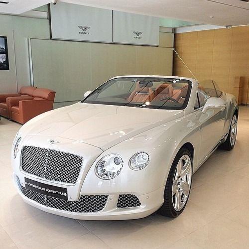 Luxury White Bentley.