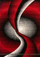 Paris Modern Abstract Rug 5135 Black Red