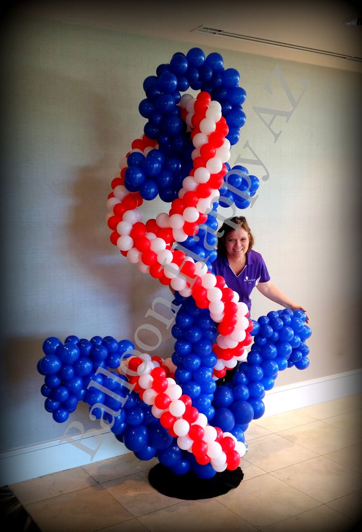11 best balloon decor by it 39 z your party images on for Anchor balloon decoration