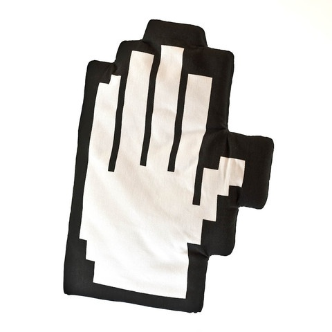 The coolest thing to ever hold a hot plate, dinner goes digital with these pixelated oven gloves. Generously padded they'll safely protect your hands though probably wont help your keyboard skills much.