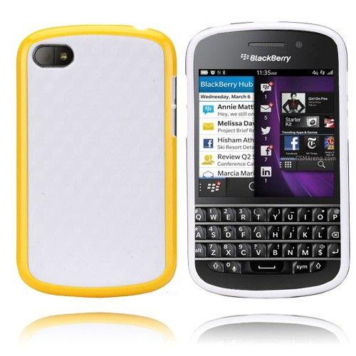 EdgeWhite (Keltainen) BlackBerry Q10 Suojakuori
