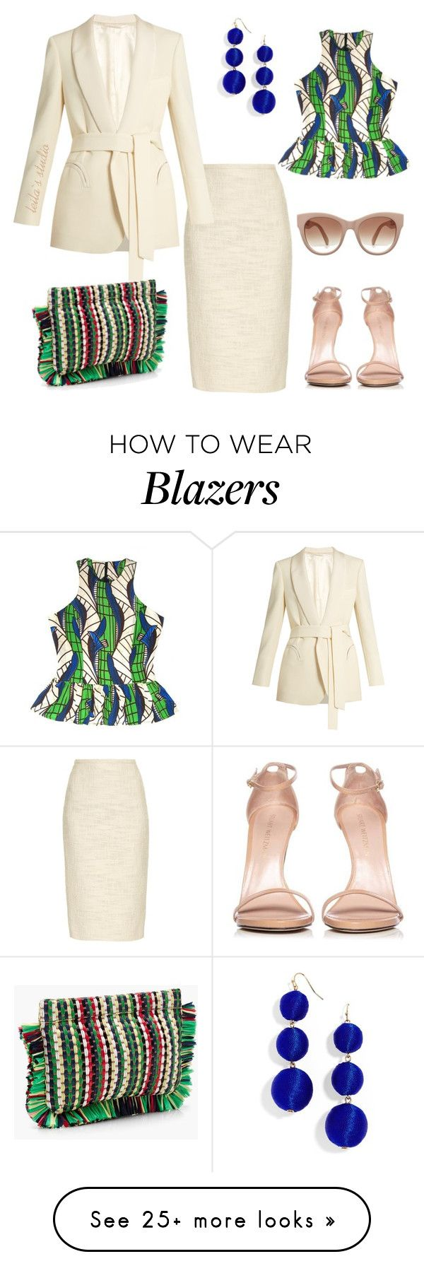 """#232"" by leila-image-style on Polyvore featuring Rochas, Blazé Milano, FAIR+true, J.Crew, Stuart Weitzman and BaubleBar"