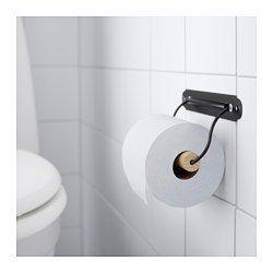 SVARTSJÖN Toilet roll holder, black - IKEA $3.99