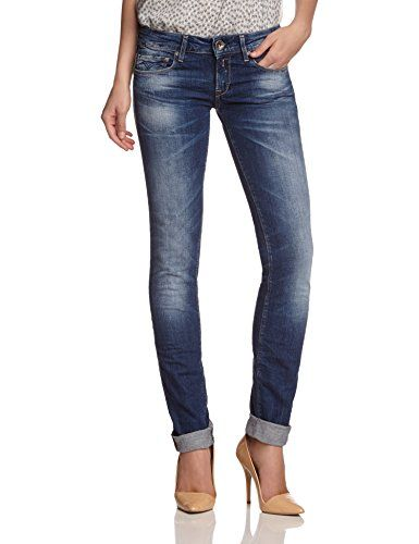 Replay Damen Skinny Jeans Rose WX613 .000.543 303, Gr. W28/ L34 (Herstellergröße: 28), Blau (Blue Denim) Replay
