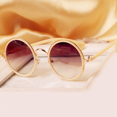 $7.80 Stylish Round Full Frame Anti-UV Sunglasses For Women