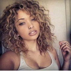 natural medium curly hair - Google Search