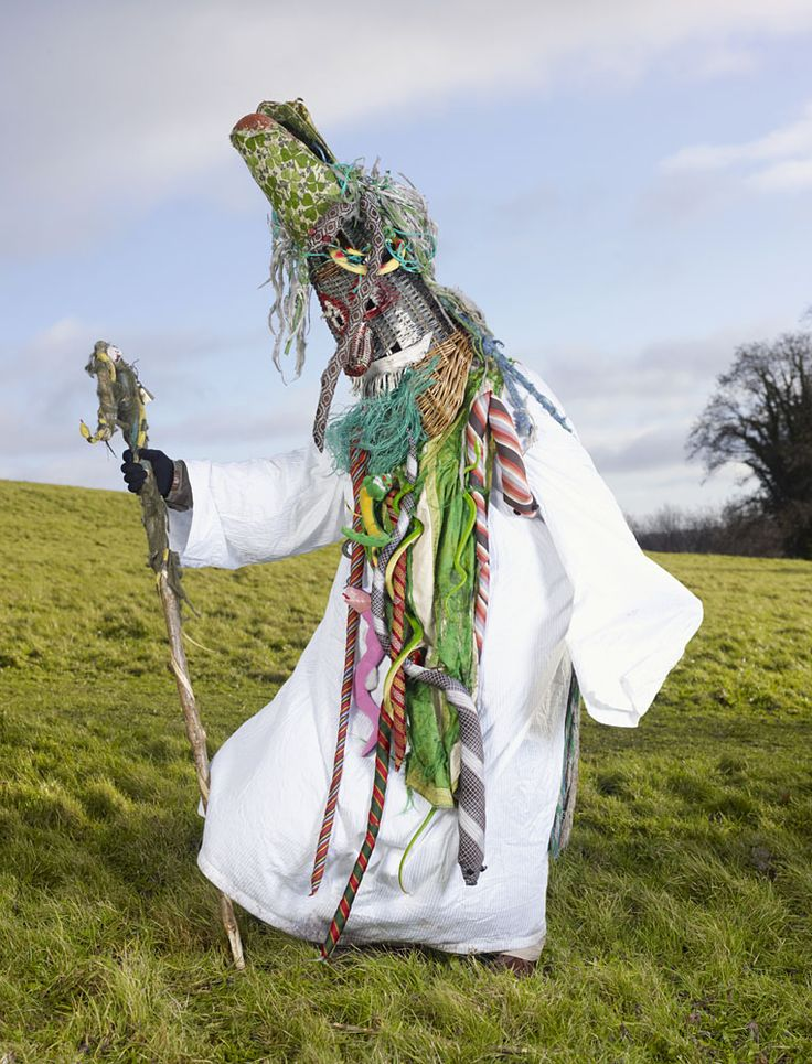 Charles Fréger travelled to eighteen European countries to document the costumes associated with pre-Christian rituals and festivals. Image from the monograph Wilder Mann.