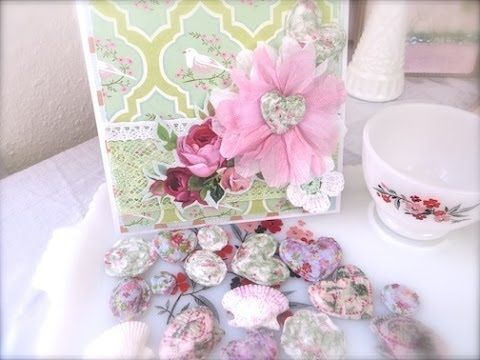 Cheap and Chic: 3D Embellishments Using Paper Napkins and Water - YouTube