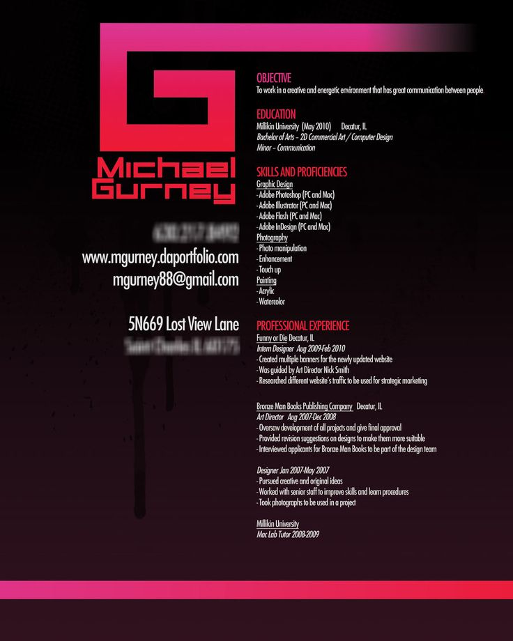 resumes for graphic designers - Sample Graphic Design Resume