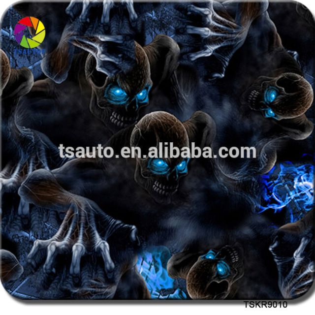 Wholesale TSAUTOP hot selling 1M width skull design pva hydrographic printable water transfer printing film for hydro dipping From m.alibaba.com