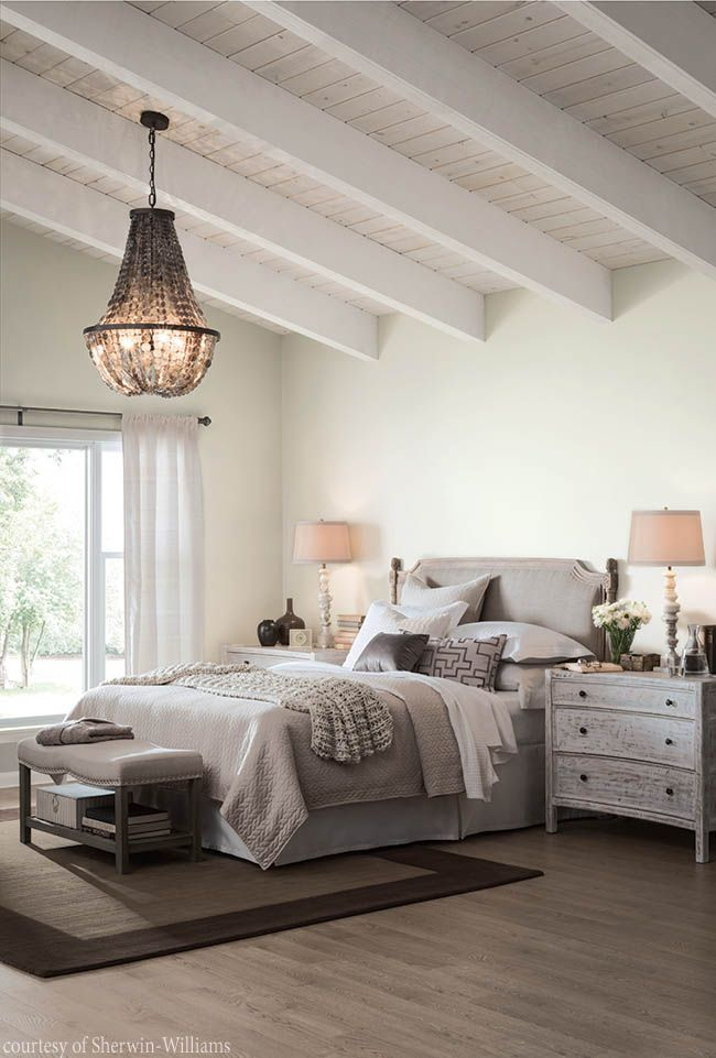 Bedroom design with a soothing color palette