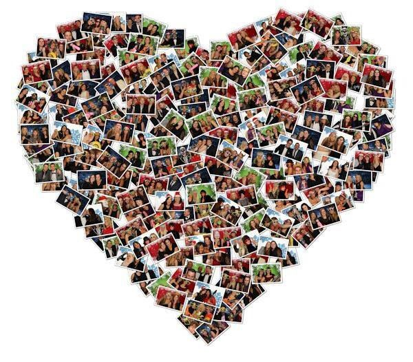 Photobooth Heart Collage