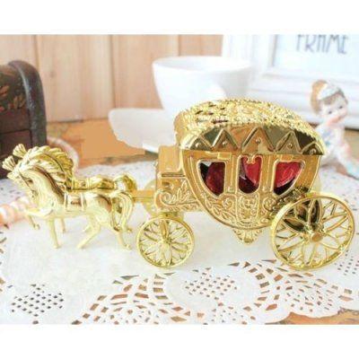 Boîte à Dragées Mariage Carrosse Or x 10 par Un Jour Spécial : accessoires & décorations de mariage