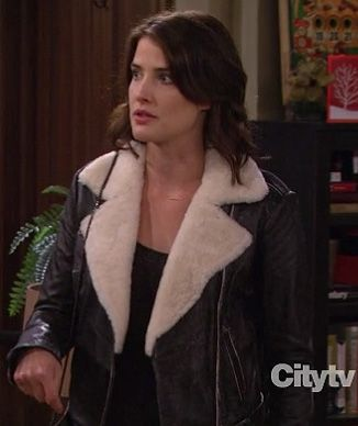 Robin's leather shearling jacket on How I Met Your Mother ...