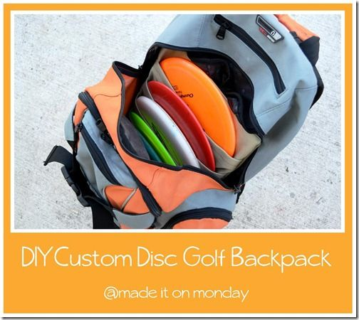 diy custom disc golf backpack
