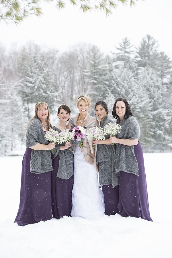 #VisualRoots #Bridesmaids #Bride #WinterWedding