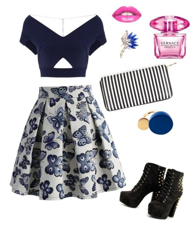 """Blue"" by jangiraldo on Polyvore featuring moda, Chicwish, New Look, Marc by Marc Jacobs, Versace y Roland Mouret"
