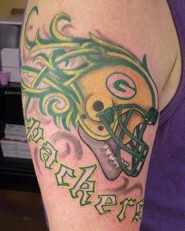 Green Bay Packers Football Tattoo