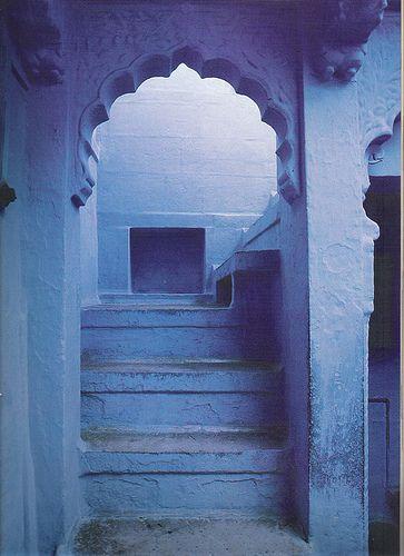 LR indian interiors blue arch by dmglazebrook@sbcglobal.net, via Flickr