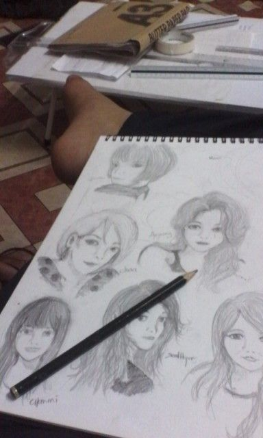 just a raw sketch of 'Ace of Angel'(AoA) member.