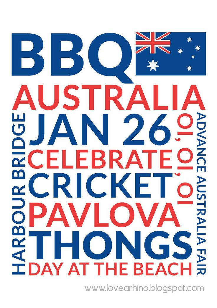 Free Australia Day Subway Art Poster