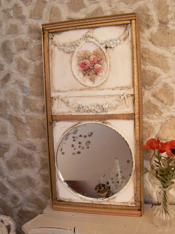 romantic shabby chic mirror dollhouse my favourite things pinterest shabby chic mirror. Black Bedroom Furniture Sets. Home Design Ideas