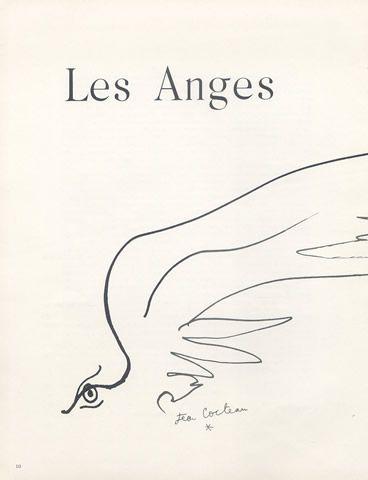 -Jean Cocteau- 'les Anges' Mon Ange, croire, bien du courage.