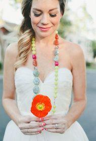 Multicolor Wedding Inspiration | Colorblock Bridal Look