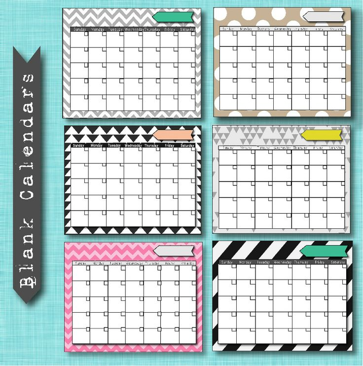Best 25+ Free Blank Calendar Ideas On Pinterest | Blank Monthly