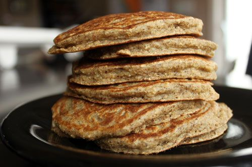 Banana Almond Oat Pancakes. I'm so happy I just discovered this blog. It's full of healthy recipes that have been kid approved!