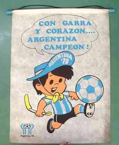 muñeco del mundial de 1978 de Argentina