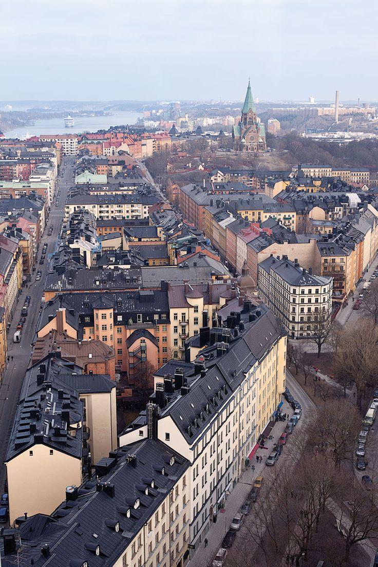 "view from the restaurant ""Himlen"" (heaven), Södermalm, Stockholm, Sweden"