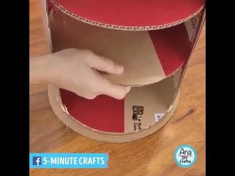 5 Minute Crafts Cute Diy Cardboard Furniture Youtube Cardboard