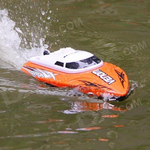 UDIR/C Wireless Remote Control Boat / Speed Boat Shatterproof Model - Orange + White