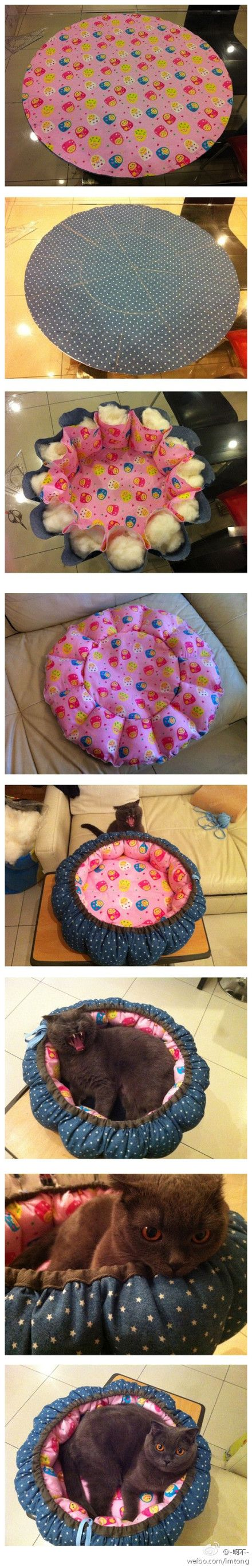 How to make a cat or dog bed (Diy Pillows Pet)