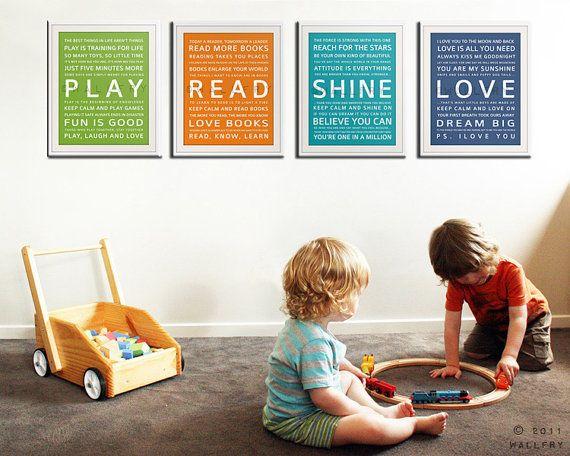 TypografieKunstdrucke für KinderSpielzimmerKunst. von Wallfry