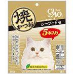 チャオ 焼かつお シーフード味 5本 (キャットフード/猫用おやつ/猫のおやつ・猫のオヤツ・ねこのおやつ)(いなば チャオ CIAO/いなばペット)の最安値