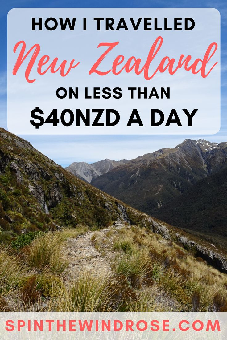 New Zealand is an infamously expensive place to travel, but it IS possible to see the entire country on a budget! Here's how I travelled New Zealand on just $40NZD a day | spinthewindrose.com | #nz #newzealand #travel #budgettravel
