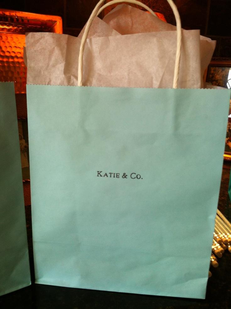 Breakfast at Tiffanyu0027s Bridal Shower gift bags