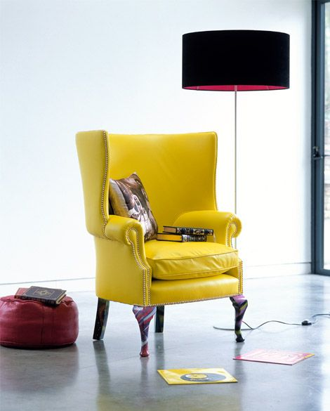 Studded Leather Wingback chair <3