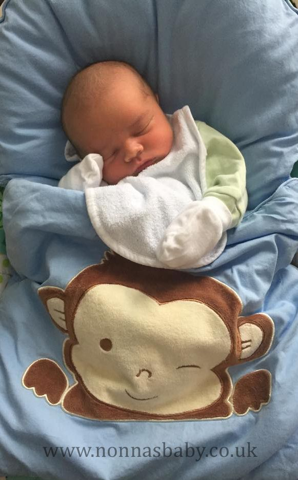 he is a cute little man all snug and comfy looking in his monkey nap mat thanks to mummy bethany for sharing this photo of her beautiful baby