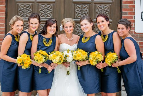 Blue And Yellow Bridesmaid Dresses - Ocodea.com